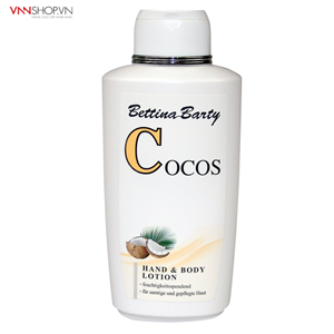 Sữa dưỡng thể Bettina Barty COCOS Hand & Body Lotion