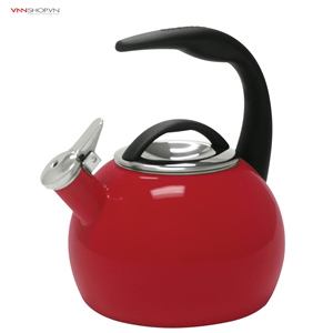 Ấm đun nước Chantal - 40th Anniversary Enamel-on-Steel 2-Qt. Teakettle mầu đỏ