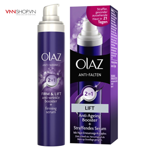 Kem dưỡng da Olaz Anti-Falten 2in1 Lift Anti- Ageing Booster Serum, 30ml